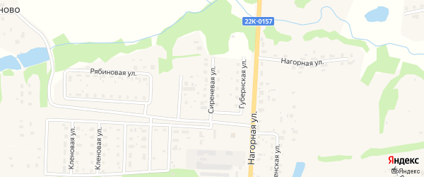 Сиреневая улица на карте Урени с номерами домов