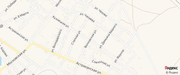 Волховская улица на карте села Капустина Яра с номерами домов