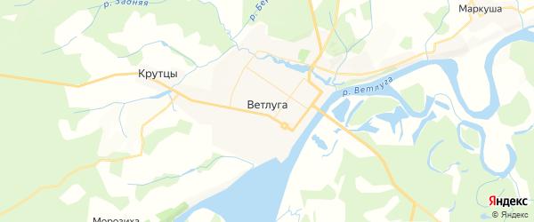 Карта Ветлуги с районами, улицами и номерами домов