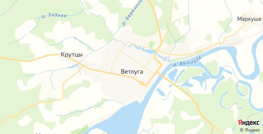 Карта Ветлуги с улицами и домами подробная. Показать со спутника номера домов онлайн