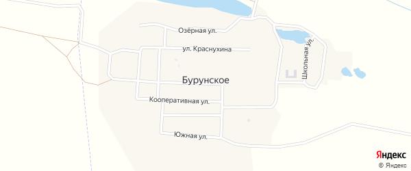 Октябрьская улица на карте Бурунское села с номерами домов
