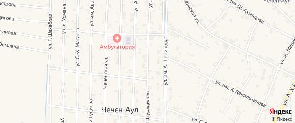 Улица Х.Нурадилова на карте села Керла-Юрт Чечни с номерами домов