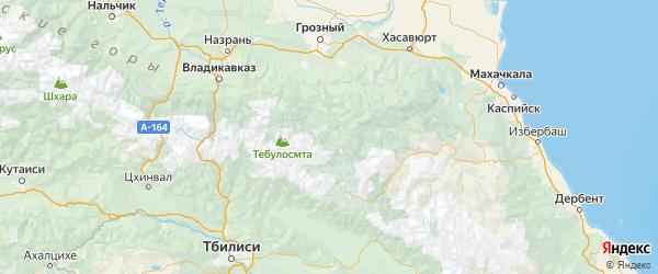 Карта Шаройского района Республики Чечни с городами и населенными пунктами