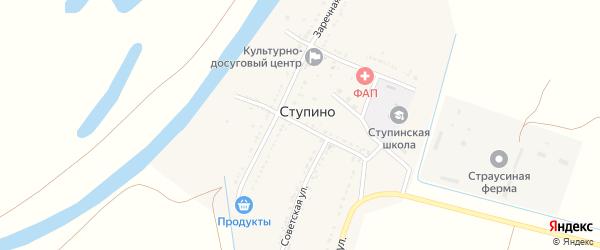 Улица Берегового на карте села Ступино Астраханской области с номерами домов