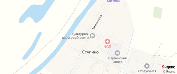 Заречная улица на карте села Ступино Астраханской области с номерами домов