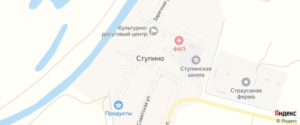 Молодежная улица на карте села Ступино Астраханской области с номерами домов