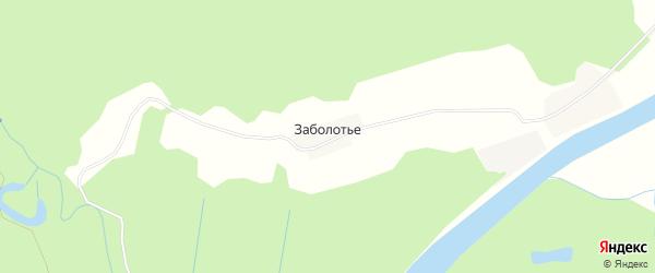 Карта деревни Заболотья в Костромской области с улицами и номерами домов