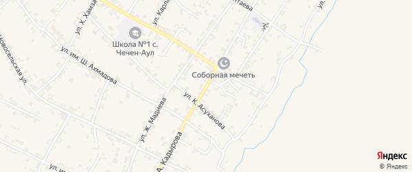 Улица А.А.Кадырова на карте села Чечен-Аул с номерами домов