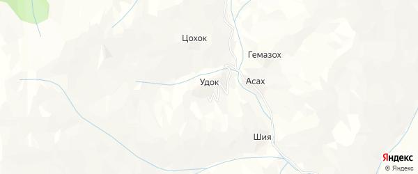 Карта села Удка в Дагестане с улицами и номерами домов