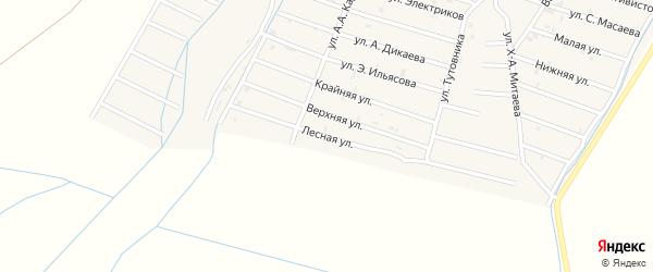 Лесная улица на карте села Белгатой Чечни с номерами домов