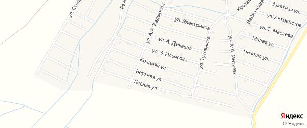 Крайняя улица на карте села Белгатой Чечни с номерами домов
