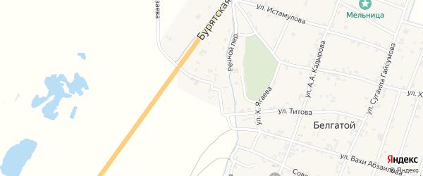 Улица Нурди Музаева на карте села Белгатой Чечни с номерами домов