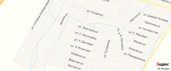 Улица Сайдали Виситаева на карте села Белгатой Чечни с номерами домов