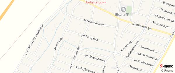 Улица Гагарина на карте села Белгатой Чечни с номерами домов