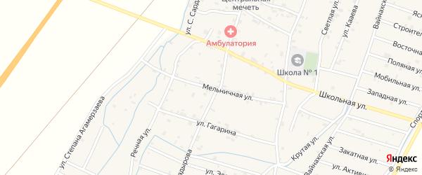 Мельничная улица на карте села Белгатой Чечни с номерами домов