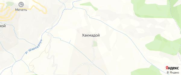Карта села Хакмадой в Чечне с улицами и номерами домов