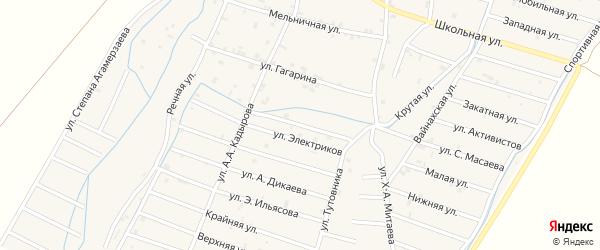 Курганная улица на карте села Белгатой Чечни с номерами домов