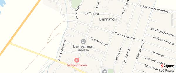 Советская улица на карте села Белгатой Чечни с номерами домов
