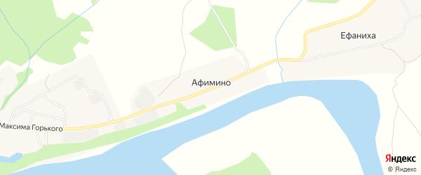 Карта деревни Афимино в Нижегородской области с улицами и номерами домов