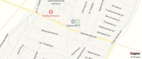 Школьная улица на карте села Белгатой Чечни с номерами домов