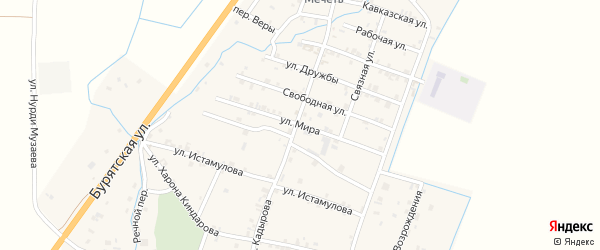 Улица Мира на карте села Белгатой Чечни с номерами домов