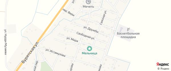 Улица Свободы на карте села Белгатой Чечни с номерами домов