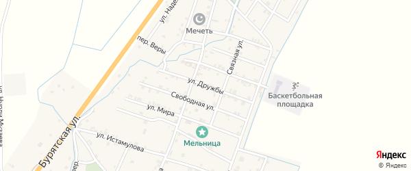 Улица Дружбы на карте села Белгатой Чечни с номерами домов
