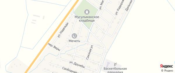 Кавказский переулок на карте села Белгатой Чечни с номерами домов