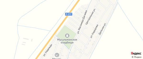 Улица Абдулкерима Адуева на карте села Белгатой Чечни с номерами домов