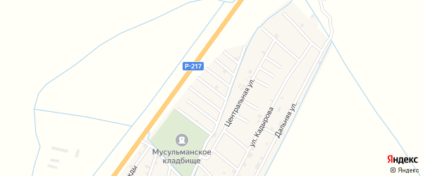 Улица Муцу Хамсуркаева на карте села Белгатой Чечни с номерами домов