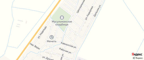 Улица Тештиева на карте села Белгатой Чечни с номерами домов