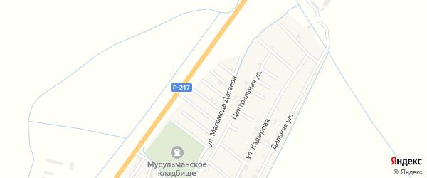 Улица Кахира Байсултанова на карте села Белгатой Чечни с номерами домов