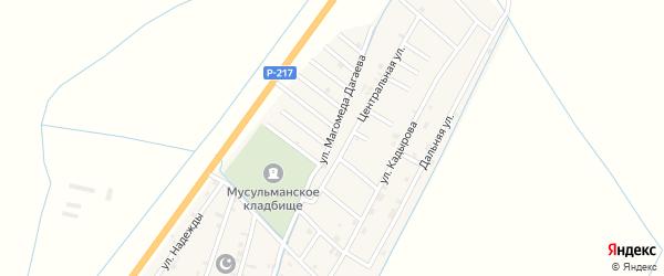 Улица Магомеда Шахбулатова на карте села Белгатой Чечни с номерами домов