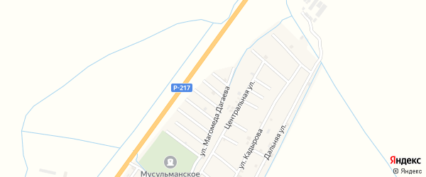 Улица Сайдмагомеда Нашаева на карте села Белгатой Чечни с номерами домов