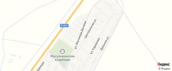 Центральная улица на карте села Белгатой Чечни с номерами домов