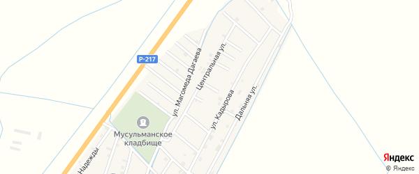 Улица Тапа Вахаева на карте села Белгатой Чечни с номерами домов