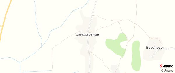 Карта деревни Замостовицы в Вологодской области с улицами и номерами домов
