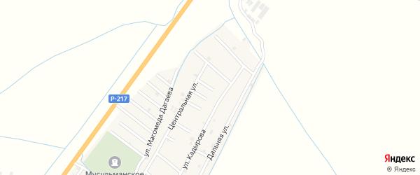 Улица Шахаба Тозуркаева на карте села Белгатой Чечни с номерами домов