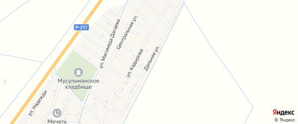 Дальняя улица на карте села Белгатой Чечни с номерами домов