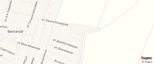 Улица Хампаша Нурадилова на карте села Белгатой Чечни с номерами домов