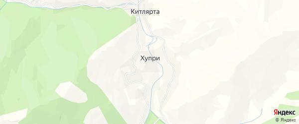 Карта села Хупри в Дагестане с улицами и номерами домов