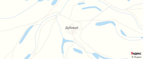Карта Дубового хутора в Астраханской области с улицами и номерами домов