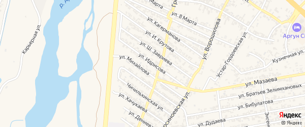 Улица А.Идрисова на карте Аргуна с номерами домов