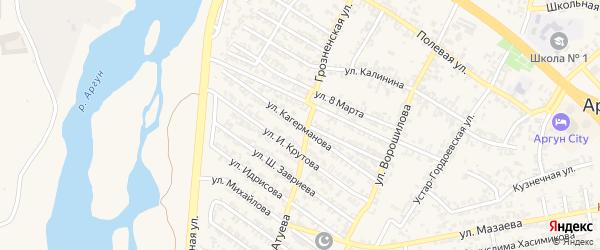 Улица А.Кагерманова на карте Аргуна с номерами домов