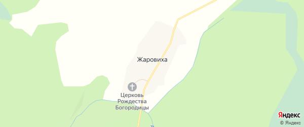 Карта деревни Жаровиха в Вологодской области с улицами и номерами домов