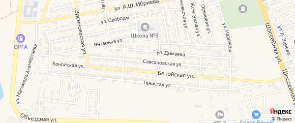 Саясановская улица на карте Аргуна с номерами домов