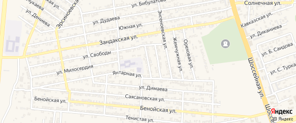 Переулок 2-й С.Аксактемирова на карте Аргуна с номерами домов