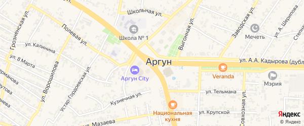 2-й Мактаульский переулок на карте Аргуна с номерами домов