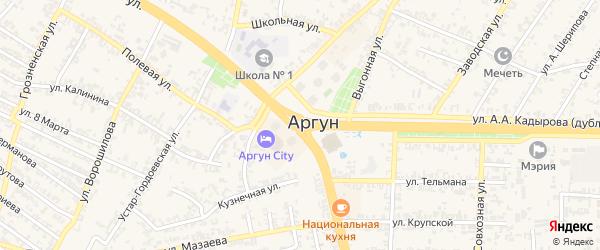 2-й Дачный переулок на карте Аргуна с номерами домов