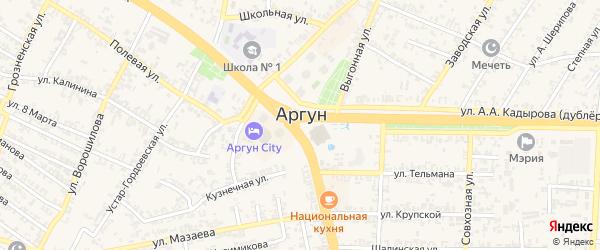 Улица Х.Бахаева на карте Аргуна с номерами домов